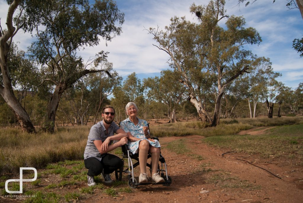 Marg and I in Alice Springs